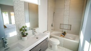 Master Bathroom at 6262 Ethel Ave
